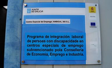 Centro especial del empleo, homologado por la consellería de trabajo, de la Xunta de Galicia