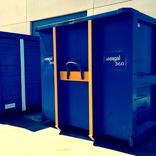 Alquiler de contenedores de almacenamiento.