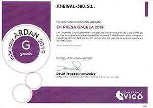 Gacela, reconocimiento ARDAN 2019.